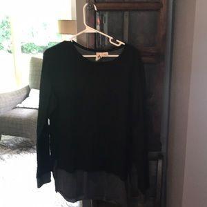 Black and grey long sleeve shirt